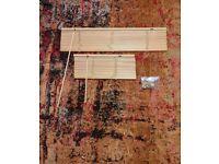 Big Beautiful Brown Blinds & Brackets Bundle (Venetian, Wood; 105cm/60cm widths)