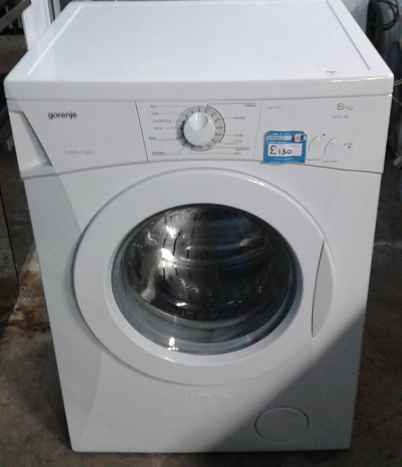 AA302 white gorenje 6kg 1100spin washing machine comes with warranty can be delivered or collected