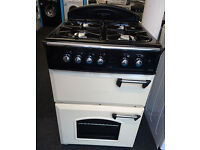 E152 cream leisure gourmet 60cm double oven gas cooker comes with warranty can be delivered