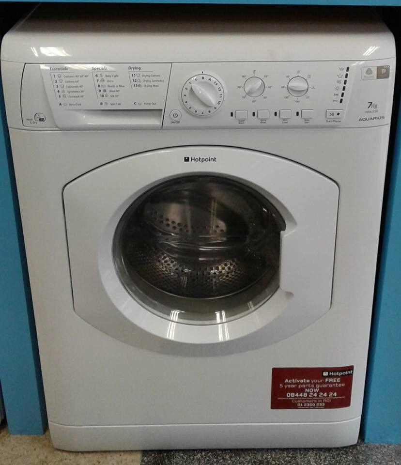 G141 white hotpoint 7kg 1200spin washer dryer comes with warranty can be delivered or collected