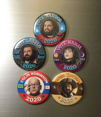 """WHAT WE DO IN THE SHADOWS PRESIDENT 2020 CAMPAIGN 2.25"""" PIN BUTTON OR MAGNET"""