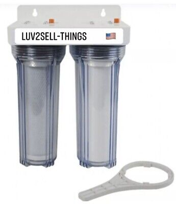 Iron/Sulfur Removal DUAL Whole House Water Filter System for Drinking water