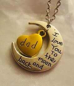 BRAND NEW DAD I Love You to The Moon And Back Necklace with A Gift Bag £5 Each