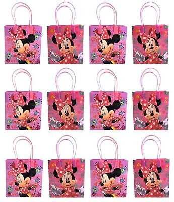 12PCS Disney Minnie Mouse Goodie Party Favor Gift Birthday Loot Bags Licensed