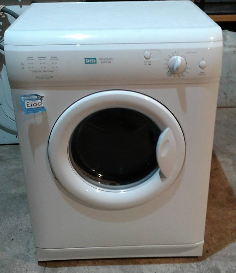 AA128 white creda 6kg vented dryer comes with warranty can be delivered or collected