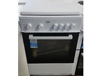 g203 white beko 60cm solid ring electric cooker graded 12 months warranty can be delivered