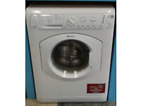 Y141 white hotpoint 7kg 1200spin washer dryer comes with warranty can be delivered or collected
