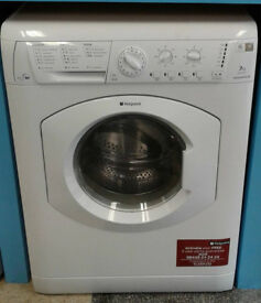 S141 white hotpoint 7kg 1200spin washer dryer comes with warranty can be delivered or collected