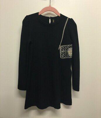 Fendi Kids Black Girls Dress Size 4A