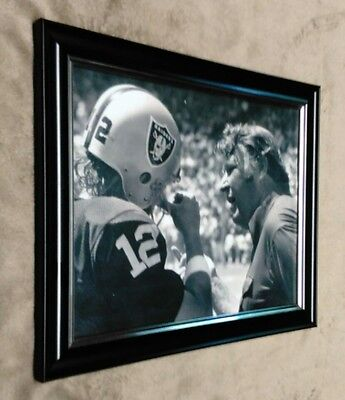 OAKLAND RAIDERS John Madden Ken Stabler Super Bowl Sideline Framed 8x10 Photo - Ken Stabler Oakland Raiders Framed
