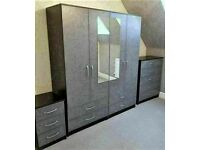 🌞🔥HIGH QUALITY NEW WARDROBE, CHEST OF DRAWERS, BED SIDE TABLES ALL NEW READY ASSEMBLED