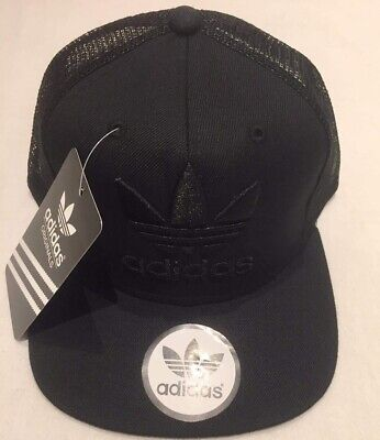 Adult Unisex Snapback Adidas tracker Cap.full black .Huge Sell.Free Delivery