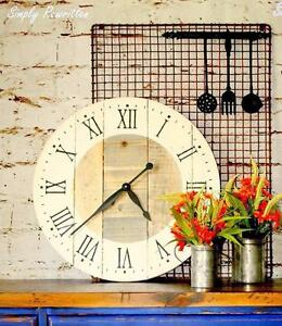 "24"" Rustic Farmhouse CLock"