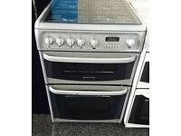 *34* silver cannon 60cm double oven gas cooker comes with warranty can be delivered or collected