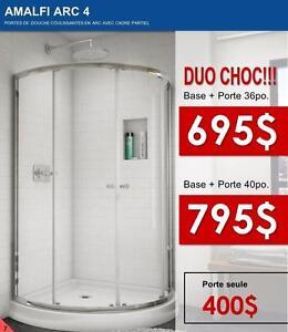 PORTE DE DOUCHE + BASE EN ACRLYLIQUE