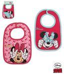 2 stk. hagesmække med Minnie Mouse fra Disney. Med print. Lukkes med en tryklås. 100% bomuld Vask: 40 grader 56 kr