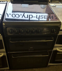 J122 black cannon double oven ceramic electric cooker comes with warranty can be delivered