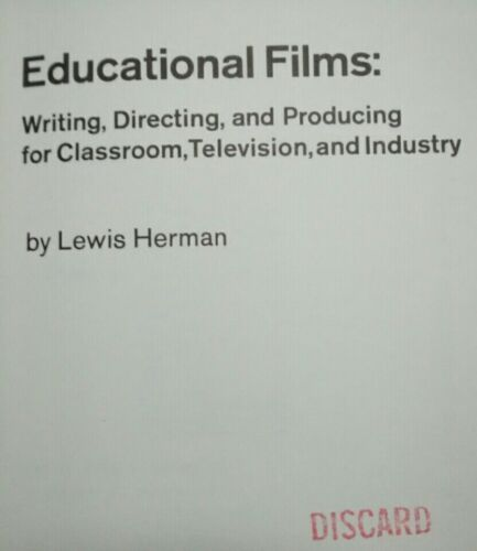 EDUCATIONAL FILMS How To Guide Hardcover Book 1965 LEWIS HERMAN NEAR MINT Ex-Lib - $5.46