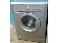 l274 silver indesit 6kg 1200spin washing machine comes with warranty can be delivered or collected