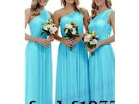 Bridesmaid dresses 2 turquoise 1 white brand new