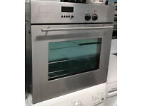 E205 stainless steel neff single electric oven comes with warranty can be delivered or collected