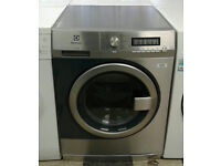 a093 stainless steel & blue electrolux 8kg 1400spin A+++ rated professional washing machine