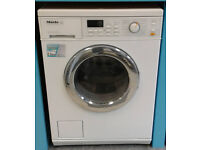 O713 white miele 5kg 1600spin washer dryer comes with warranty can be delivered or collected