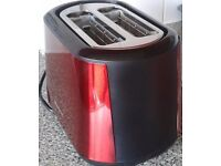 Red & Black HotPoint Toaster (New) and still in packaging