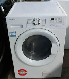 v465 white daewoo 9kg&7kg 1400spin washer dryer comes with warranty can be delivered or collected