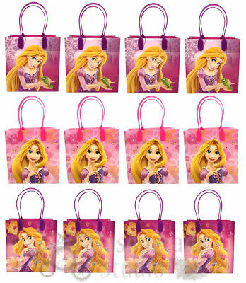 Disney Tangled Rapunzel Party Favor Supplies Goody Loot Gift Bags [12ct]