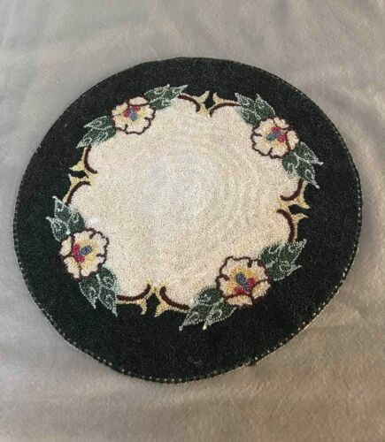 Vintage Needle Punch Silk Embroidery Doily