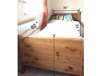 KIDS Wooden Extendable Single Bed