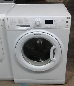 B724 white hotpoint 7kg 1400spin A+ rated washing machine comes with warranty can be delivered