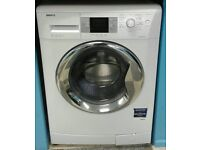 f354 white beko 8kg washing machine comes with warranty can be delivered or collected