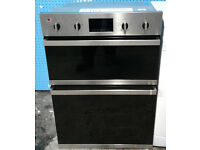 b362 stainless steel and black baumatic double integrated electric oven comes with warranty