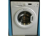 a136 white hotpoint 9kg 1400spin A** rated washing machine come with warranty can be delivered