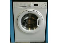 a136 white hotpoint 9kg 1400spin A** rated washing machine comes with warranty can be delivered