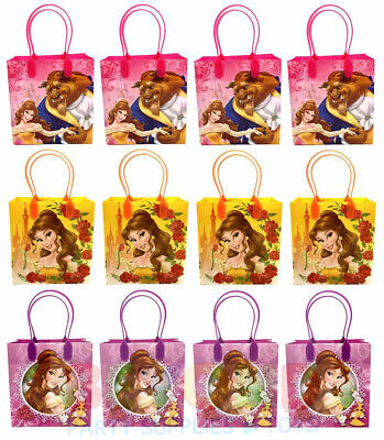 Beauty and the Beast Party Favor Gift Bags Treat Goody Candy Loot Birthday Bags  - Beauty And The Beast Party
