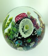 Glass Paperweight Ocean