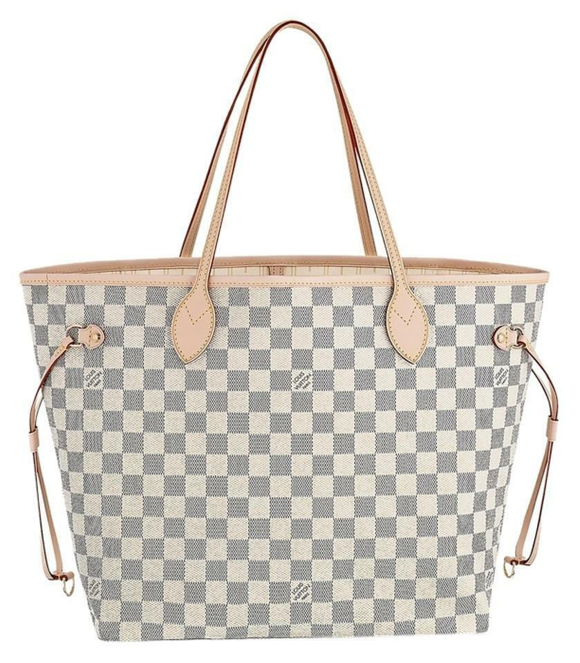 4a4a68abf4a8f Louis Vuitton Neverfull MM Damier Azur Canvas Beige for sale online ...