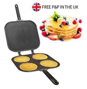 Non Stick Pancake Pan Flip Perfect Breakfast Maker Eggs Frying Omelette 4 in 1