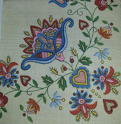 4 x Single Paper Napkins Embroidered Flowers Folklore for Decoupage and Craft 15