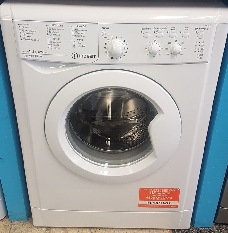 b1592 white indesit 7kg 1200spin washing machine comes with warranty can be  delivered or collected   in Blackburn, Lancashire   Gumtree