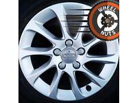 "16"" Genuine Audi alloys VW Golf Caddy good tyres."