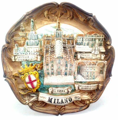 Milan, Italy Souvenir 3-D Wall Plaque, Made in Italy