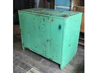 Large Green Metal Lockable Cabinet