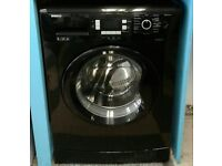 b067 black beko 8kg 1200spin washing machine comes with warranty can be delivered or collected