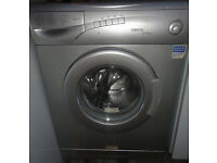 GOOD WORKING CONDITION, A NICE SILVER BEKO WASHING MACHINE 1000 Spin 5KG