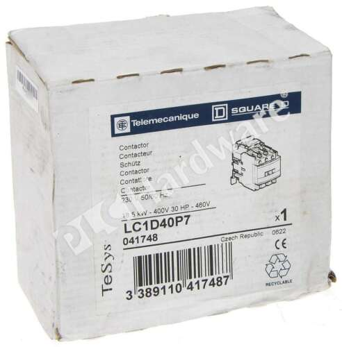 New Schneider Electric LC1D40P7 Telemecanique TeSys D Contactor 3-Ph 600V AC 40A