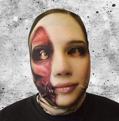 3D EFFECT PEELED FACE SKIN LYCRA FABRIC FACE MASK HALLOWEEN HORROR L&S PRINTS](Peeling Face Halloween)